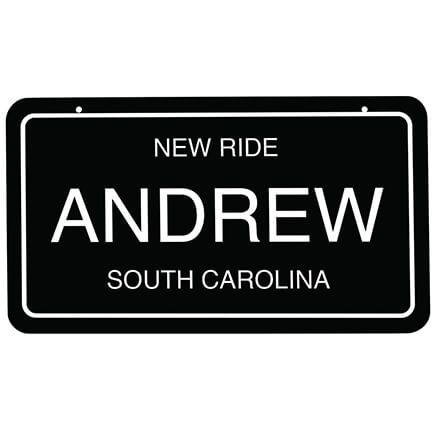 "Personalized Novelty License Plate, 4"" x 7""-368985"