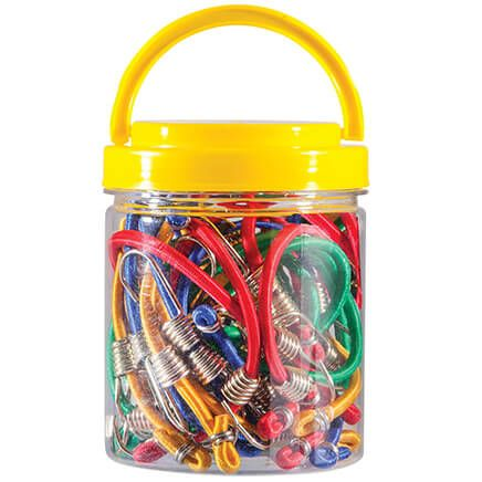 20-Pc. Mini Bungee Cord Set in Organizer Jar-369005