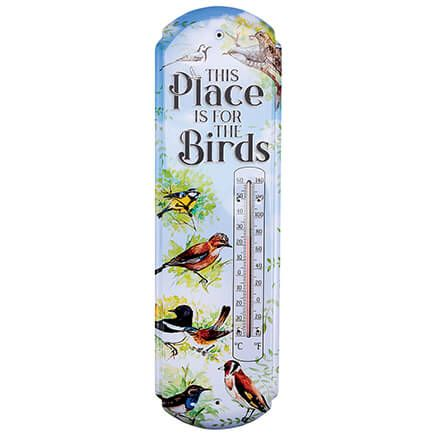 """""""This Place is for the Birds"""" Metal Thermometer-369062"""