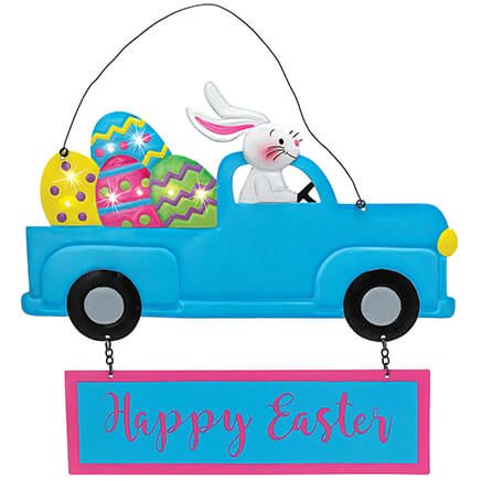 Happy Easter Lighted Bunny Door Hanger by Holiday Peak™-369147