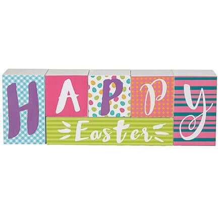Reversible Easter/Spring Block Sign Set-369149