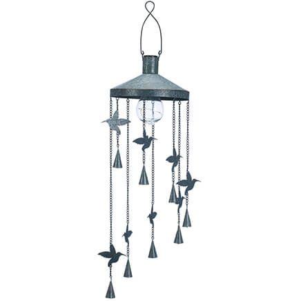 Hummingbird Wind Chime with Solar Light-369162