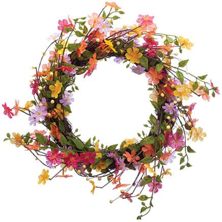 Wildflower Twig Wreath by OakRidge™-369204