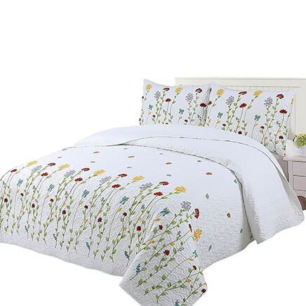 Wild Flowers Embroidered Bedspread Set by OakRidge®-369226