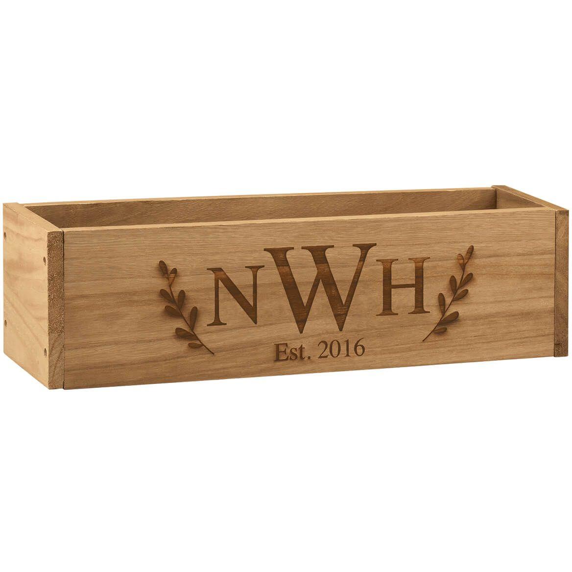 Personalized Wooden Planter Box, Monogram-369256
