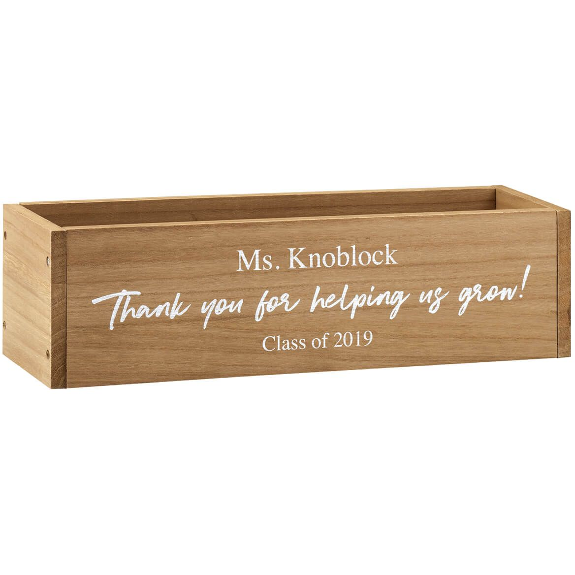 Personalized Wooden Planter Box, Helping Us Grow-369260