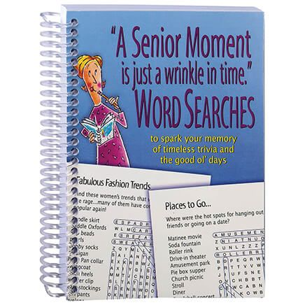 """A Senior Moment is Just a Wrinkle in Time"" Word Searches-369299"