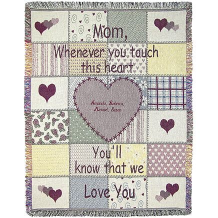 "Personalized Mom Throw, 46"" x 60""-369307"