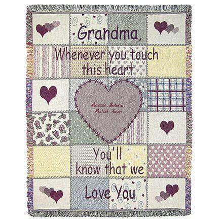 "Personalized Grandma Throw, 46"" x 60""-369308"