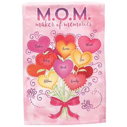 Personalized M.O.M. Maker of Memories Garden Flag-369343