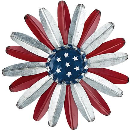 Metal Patriotic Flower Wall Hanging by Fox River™ Creations-369398