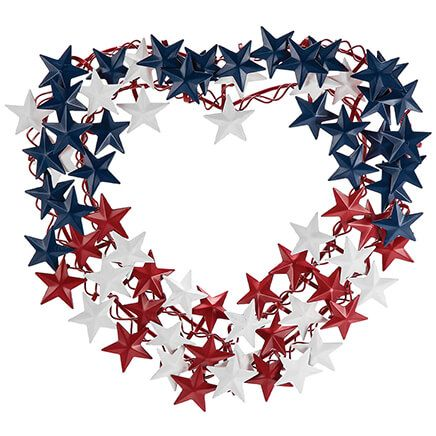 Metal Heart-Shaped Patriotic Wreath by Fox River™ Creations-369405