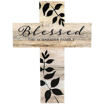 Personalized Rustic Style Cross, Blessed-369436