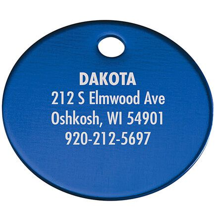 Personalized Circle-Shaped Pet Tag-369472