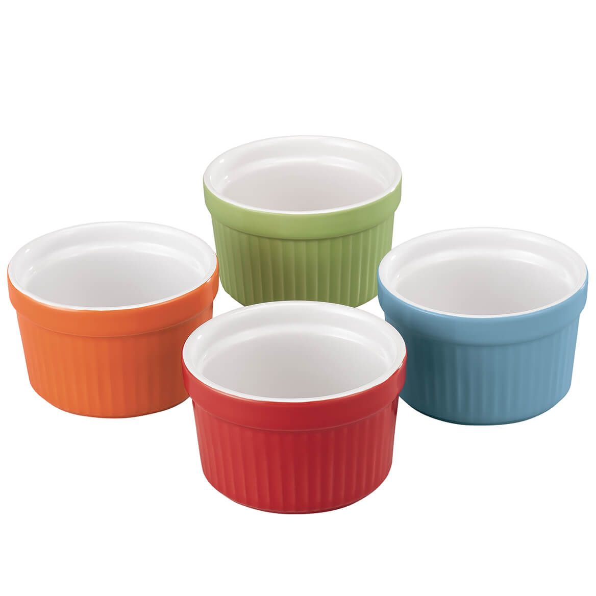 Porcelain Ramekins Set of 4 Assorted Colors by HMP-369476