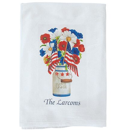 Personalized Patriotic Flour Sack Towel-369478