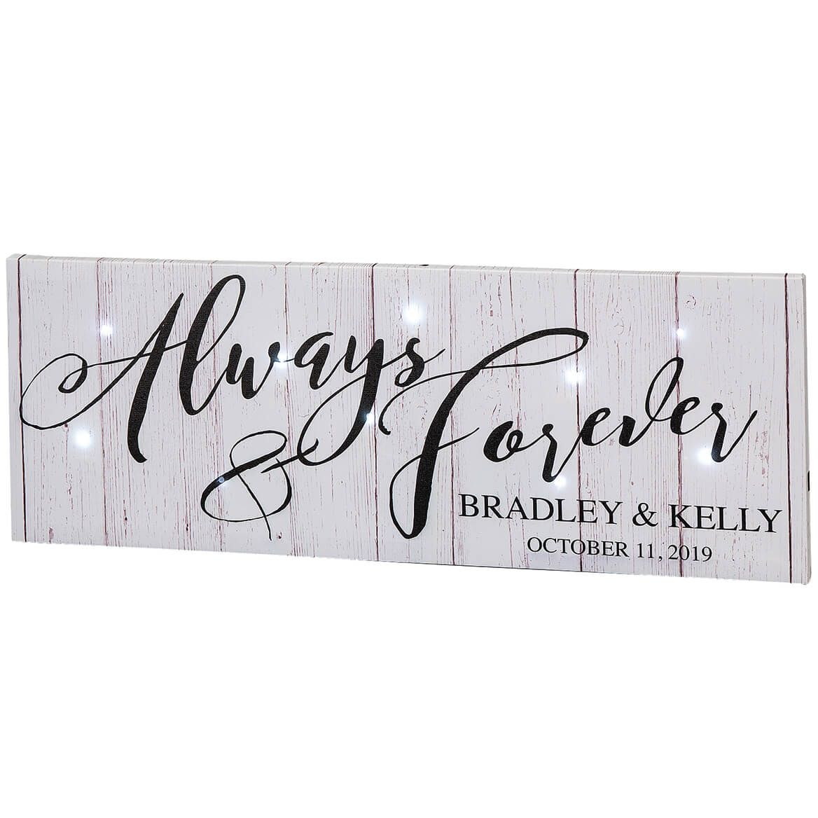 Personalized Always & Forever Lighted Canvas-369486