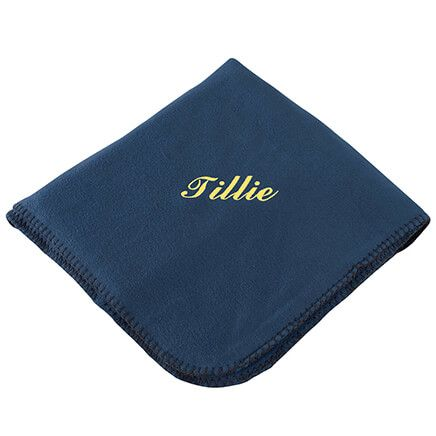 "Personalized Navy Fleece Blanket 50""x60""-369517"