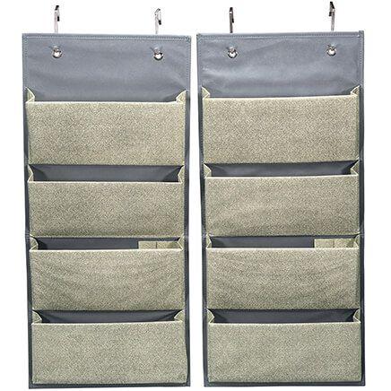 Evelots Over the Door Fabric Organizer Set of 2-369519