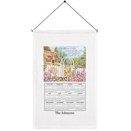 Personalized Garden Gate Calendar Towel-369594