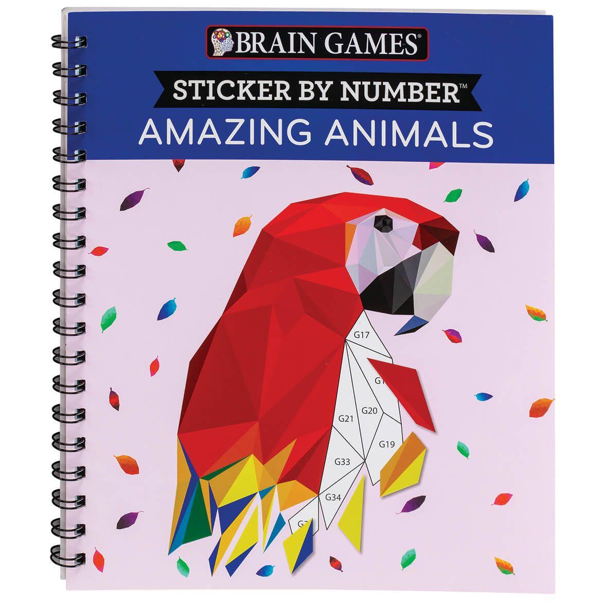 Brain Games® Sticker By Number Amazing Animals-369623