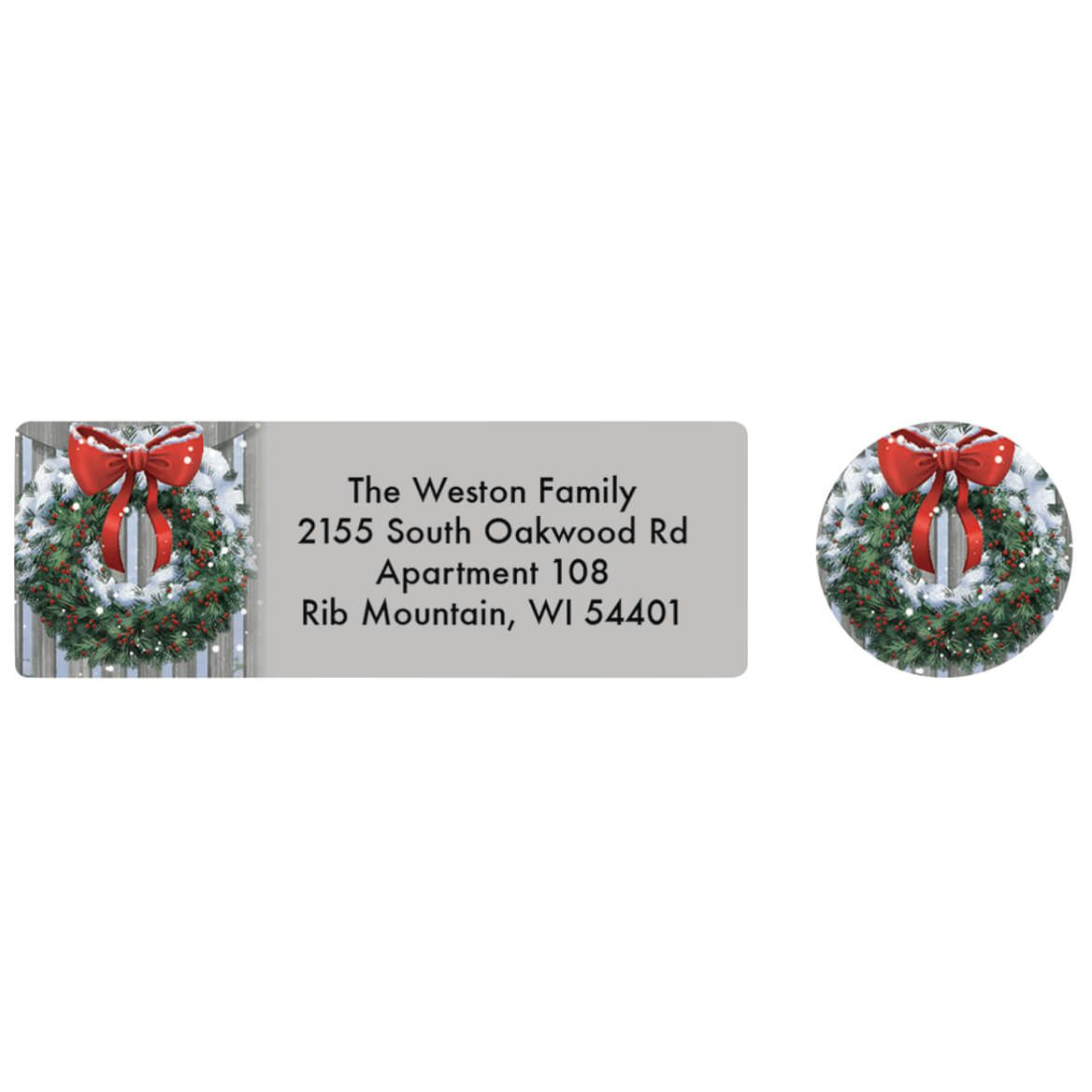 Personalized Blessings of Christmas Labels and Seals 20-370160