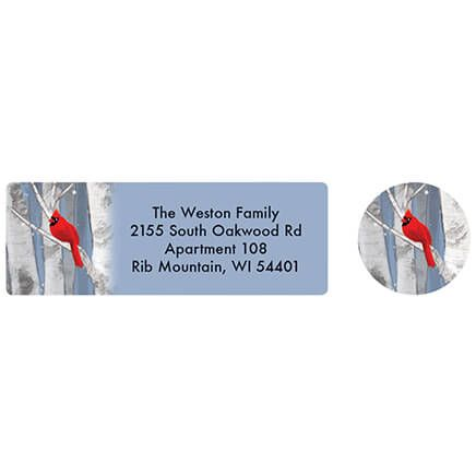 Personalized Snowy Birch Labels and Seals 20-370165