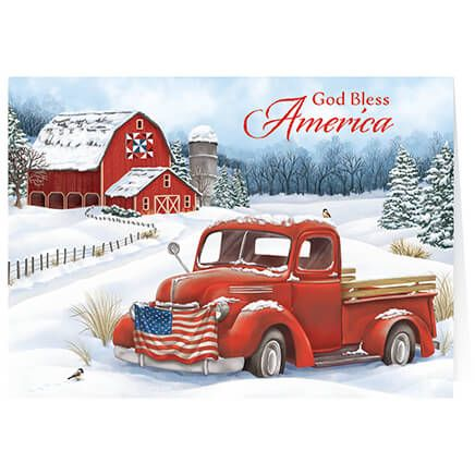 Personalized Christmas in the Country  Cards Set of 20-370181