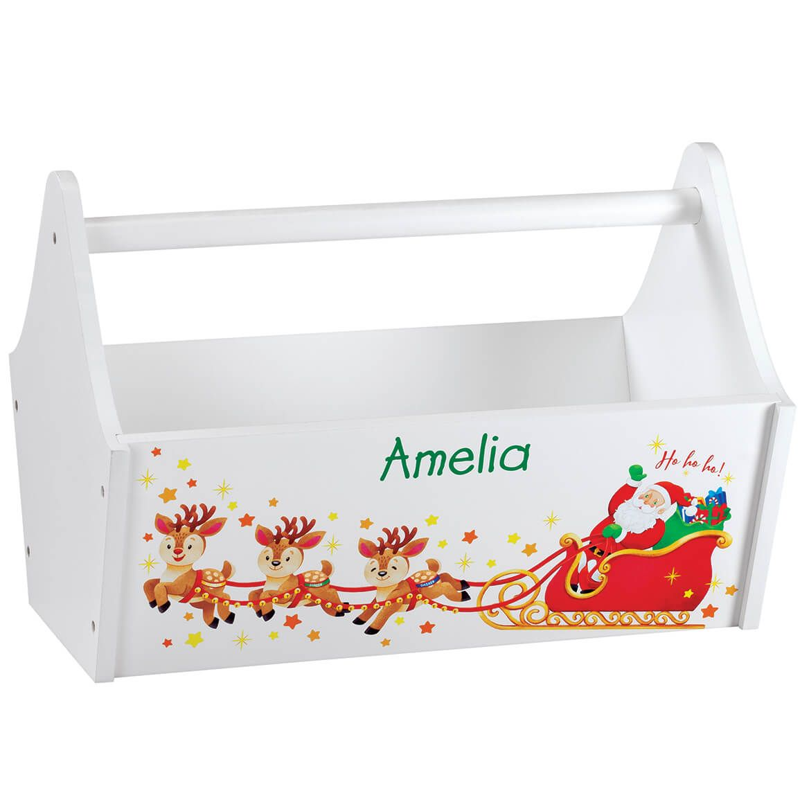 Personalized Children's Christmas Toy Caddy-370314