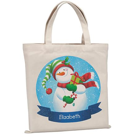 Personalized Childrens Snowman Tote-370315