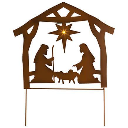 yard outdoor art clip christmas scene nativity