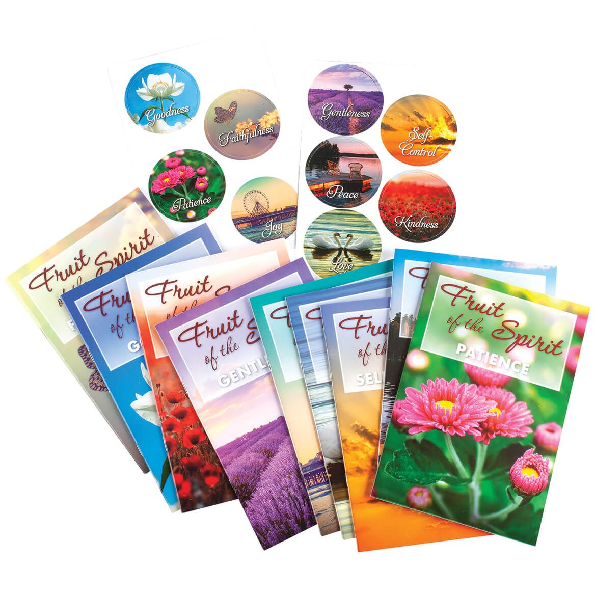 Fruit of the Spirit Books and Magnets, Set of 18-370333