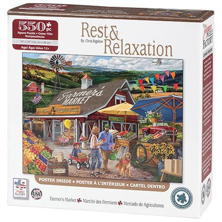 Rest & Relaxation Farmer's Market 550 Piece Puzzle-370342
