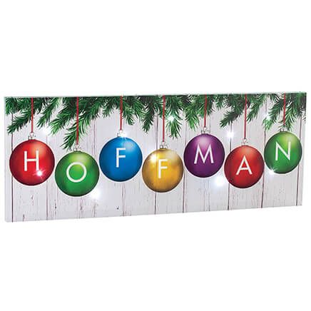 Personalized Christmas Ornament Canvas by Holiday Peak™-370367