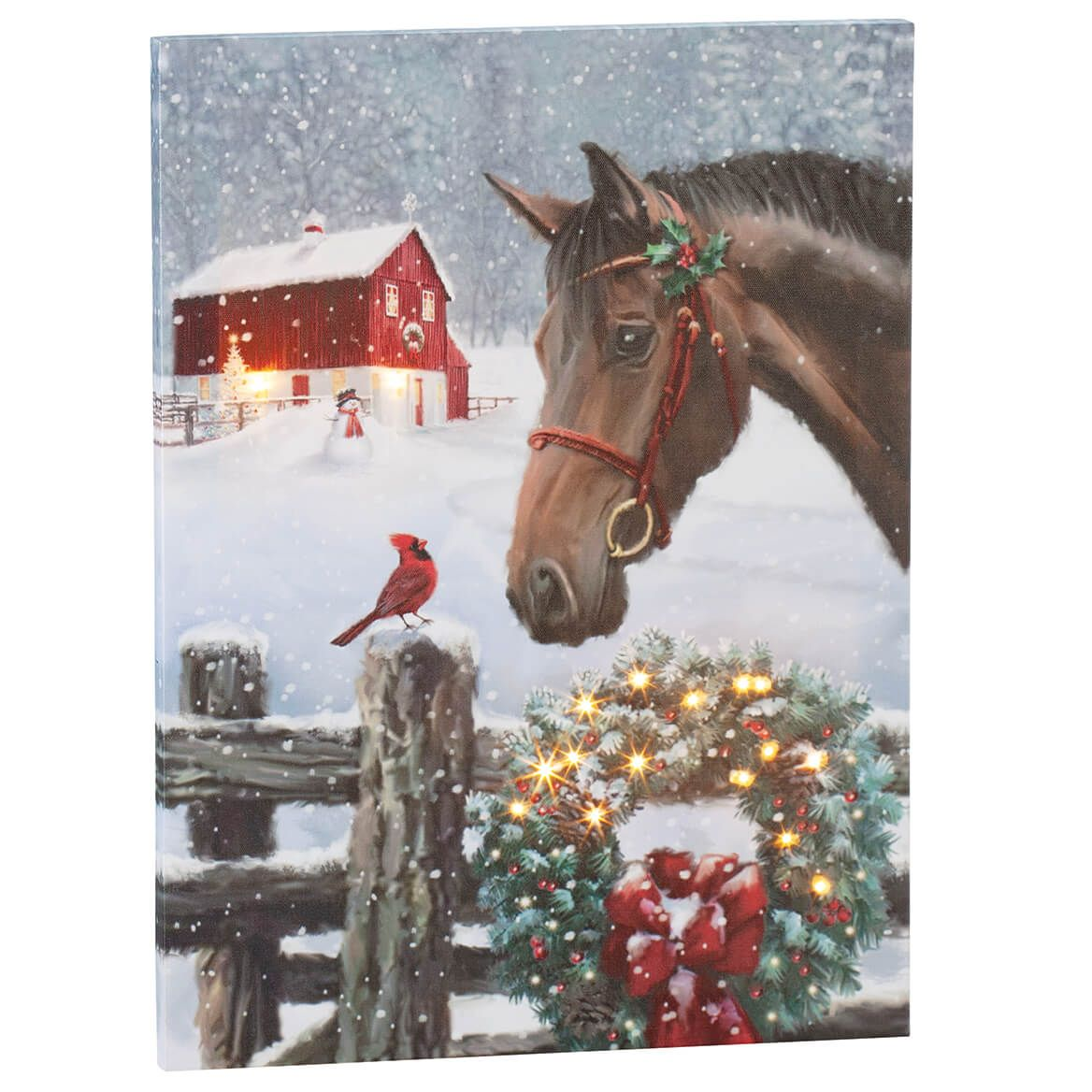 Christmas Horse Canvas by Holiday Peak™-370418