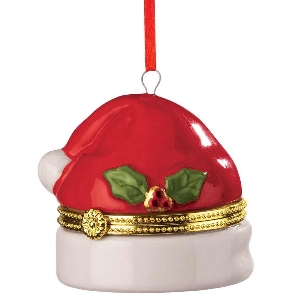 Santa Hat Trinket Box Ornament-370433