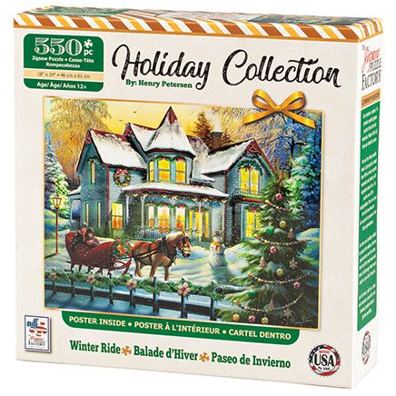 Holiday Collection Winter Ride Puzzle, 550 pieces-370479