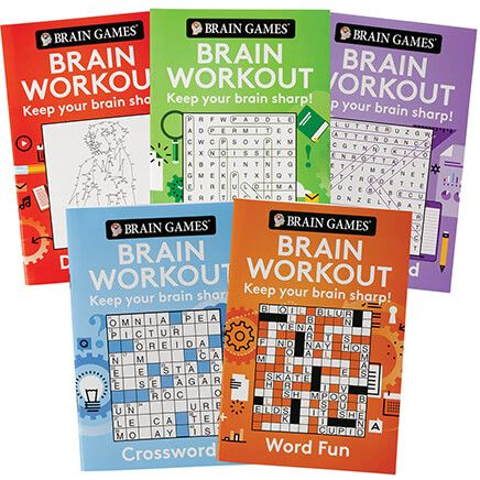 Brain Games® Brain Workout Minis, Set of 5-370483