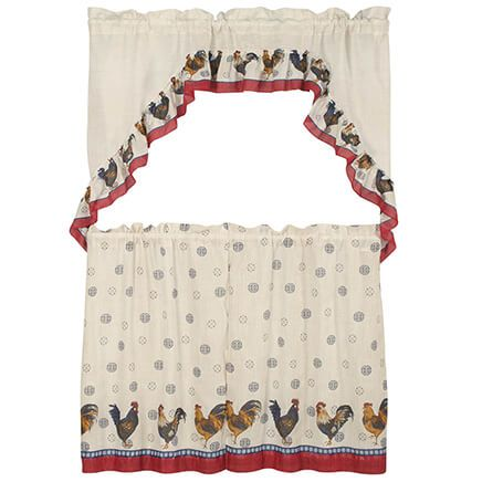 Rooster Tier Curtain 3 Piece Set-370510