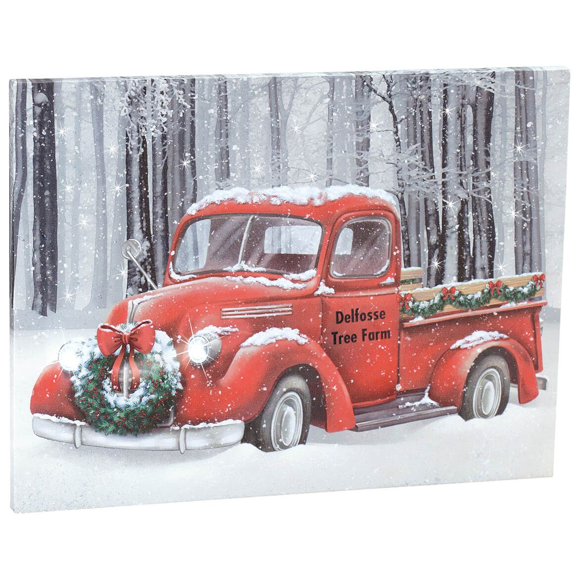 Personalized Red Truck Lighted Christmas Canvas by Holiday Peak™-370525