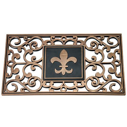 Hide A Key Doormat with Fleur-de-lis Insert-370531