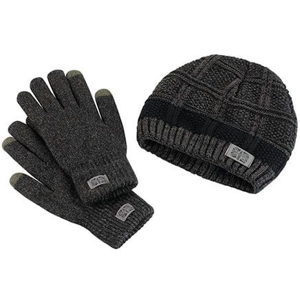 Britt's Knits ™ Men's Frontier Beanie & Gloves Set-370562