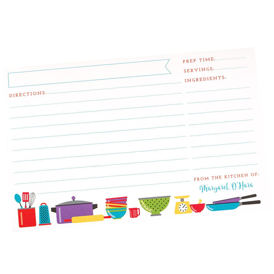 Personalized Recipe Cards-370596