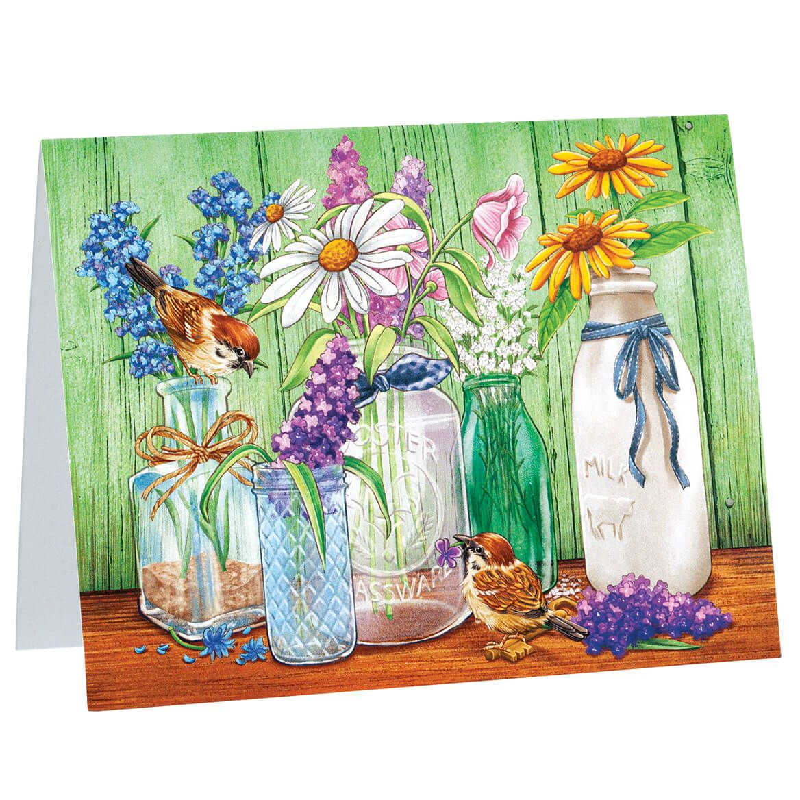 Country Flowers Notecards set of 20-370636