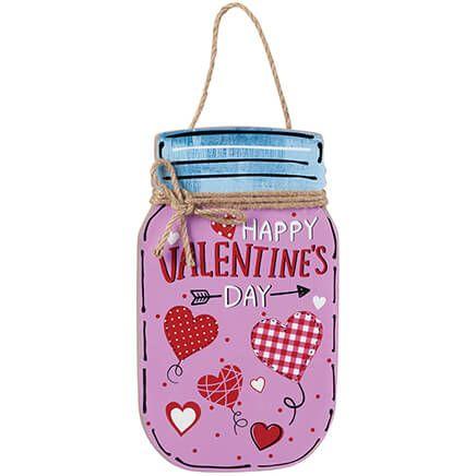 Valentine's Day Mason Jar Wall Hanging by Holiday Peak™-370654