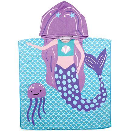 Children's Mermaid Hooded Towel-370658