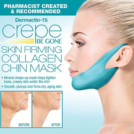 Crepe Be Gone Skin Firming Collagen Chin Masks Set of 2-370686