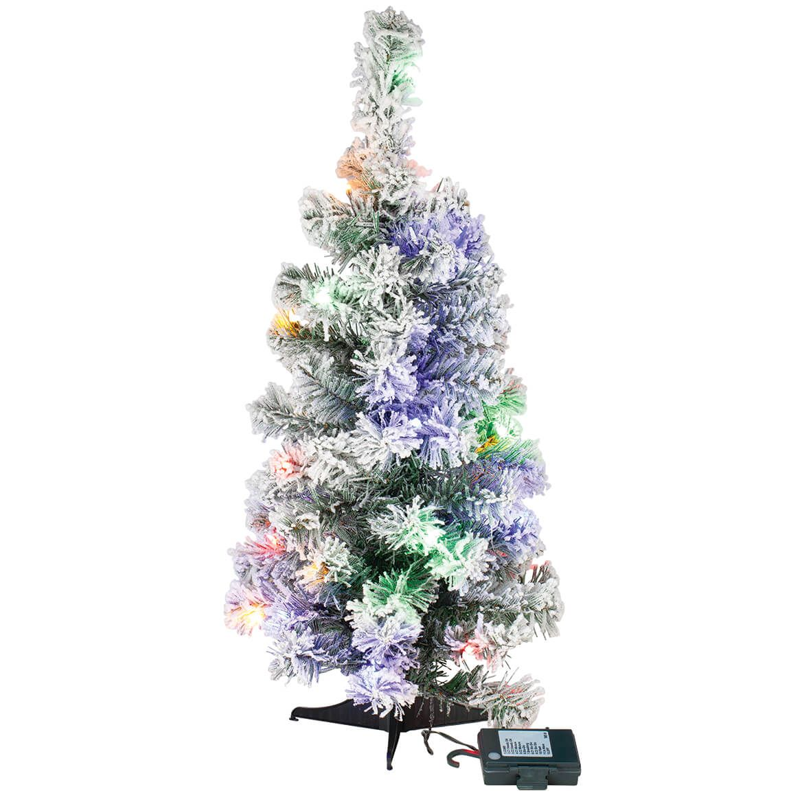 2' Color-Changing Flocked Tree Holiday Peak™-370700