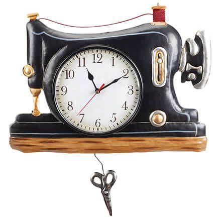 Vintage Pendulum Clock Sewing Machine-370724