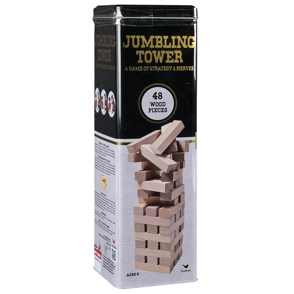 48-Piece Wood Jumbling Tower in Tin-370849